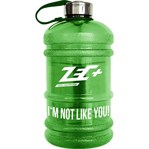 ZEC+ NUTRITION Wasserflasche WATER JUG in Grün I'M NOT LIKE YOU 2,2l