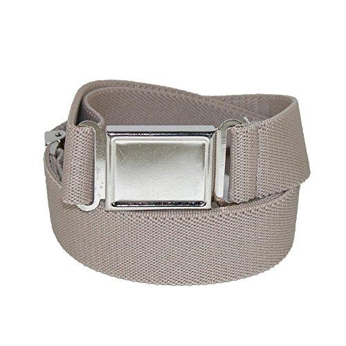CTM Kids' Adjustable Elastic Belt with Magnetic Buckle (Pack of 3), Khaki