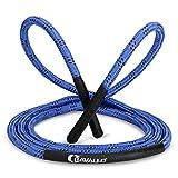 Cravallo® Springseil I 3 Meter Fatburner Speed Rope I Erwachsenen Profi Skipping Seil I Ideal zum Boxen, Ausdauer Sport, MMA, HIIT (Blau, Heavy Rope mit 14 mm Durchmesser)