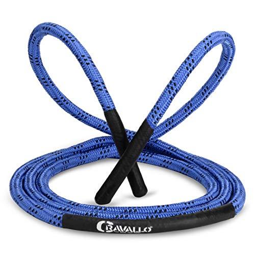Cravallo® Springseil I Heavy Battle Rope I 3 Meter Fatburner Speed Jumping Rope I Erwachsenen Profi Skipping Seil I Ideal zum Boxen, Ausdauer Sport, MMA, HIIT (14 mm Durchmesser, sehr dick)