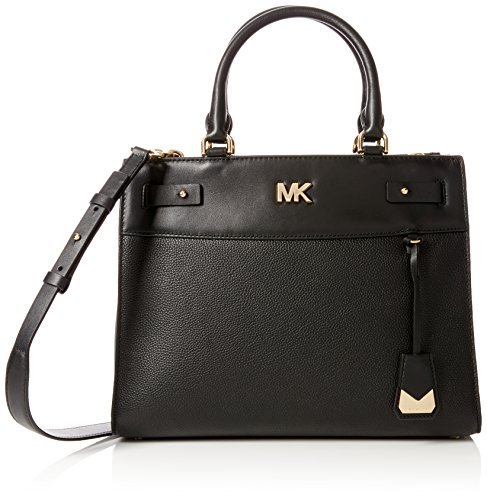 Michael Kors Womens Reagan Lg Satchel Satchel Black (Black)