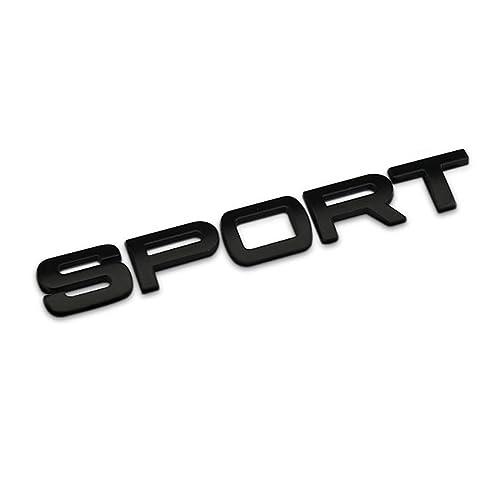 Dsycar 3D Metal Car Decoration Metal Adhesive Sport Truck Car Badge Emblem Sticker for Jeep Dodge Mustang Land Rover (Black)