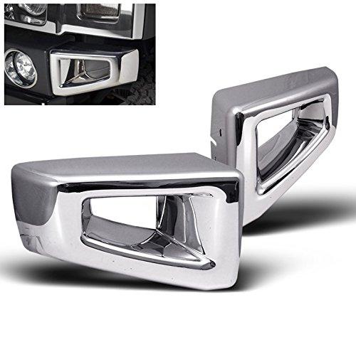 ZMAUTOPARTS For Hummer H2 Suv Sut Front Bumper Corner Cover Trim Frame ABS Chrome 2Pcs Set