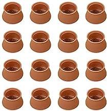 PVC meubels been bescherming cover tafel voeten pad stoel been vloer siliconen beschermers met anti-slip vilt pads (bruin)