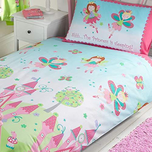 Juego de edredón y almohada, diseño infantil con texto