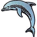 Parche bordado con diseño de delfín para ropa, pantalones vaqueros, bolsa de pescado y animal