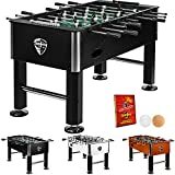 Tuniro® foosball table Basic Black, pre-assembled table football, tested for harmful substances, BTFV certified