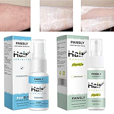 2 Bottles of Hair Removal Suppression Kit, Hair Removal Spray & Inhibit Hair Growth. Non-Irritating Hair Removal Inhibitor, for Face, Arm, Leg, Armpit, Make Your Skin Smooth from QP