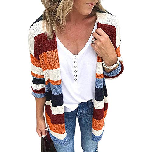 Features:Long Sleeve,Simple Design,Open Front,Pockets,Eye-catching Colors,Both the fit and length are amazing Fashion Women's Fall Cardigan Sweater Long Sleeve Striped Color Block Coat Long Tops Pair with a fun pair of athleisure shoes, shorts and a ...