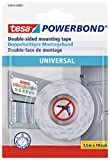 tesa UK 58565-00001-00 Powerbond Universal Double Sided Foam Tape for Crafts - White, 1.5 m x 19 mm