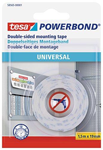 tesa doppelseitiges Montageband Powerbond UNIVERSAL, 1,5m x 19mm