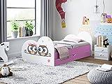 Happy Babies - Cama infantil de doble cara con cajón (180 x 90 cm), diseño moderno con bordes seguros y protección contra caídas, colchón de espuma