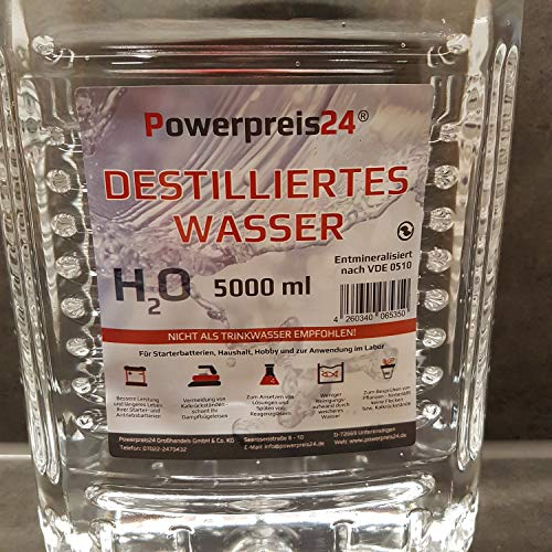 Destilliertes Wasser 20 Liter Powerpreis incl Versand 12,99 Euro (0,65€/Liter)