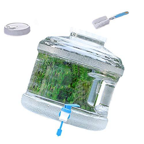 Kraeoke Bidón de agua portátil, depósito de agua de 7,5 L, con grifo, para camping, depósito de agua (color blanco)