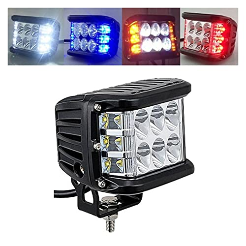 YANGLI WanLiTong Barra de Coche LED 4x4 60W LED Pods de conducción Niebla Off-Road LED Light Light White & Amber Lámpara de luz estroboscópica Combo para ATV SUV Camión Fuera de la Carretera
