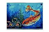 tesori dell' Caroline MW1214PLMT sparsi Red Fish tovaglietta in tessuto, multicolore