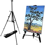 VViViD 60 Inch Tall Light-Weight Portable Adjustable Aluminum Artist's Easel Including Black Nylon Carrying...