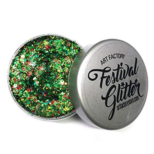 Art Factory Festival Glitter - Santa Baby (50 ml / 1 onzas líquidas), cosmética del gel del brillo