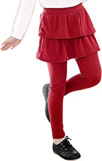 Little Girls Footless Leggings with Ruffle Tutu Skirt Pants 2-10 Years
