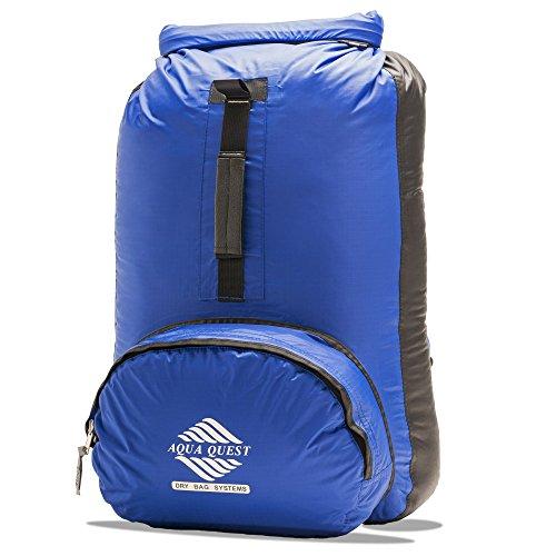 Aqua-Quest `The Himal' Waterproof Ultra Light Backpack Dry Bag - 20L / 1200 cu. in. Blue & Black Model