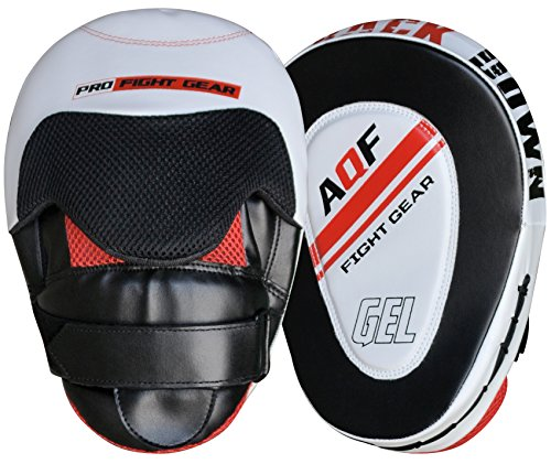 AQF Pratzen Kampfsport Rex Leder Focus Pads Paar, Haken- und Stoßhandschuhe bratzen, MMA Kick Boxen Muay Thai Sparring