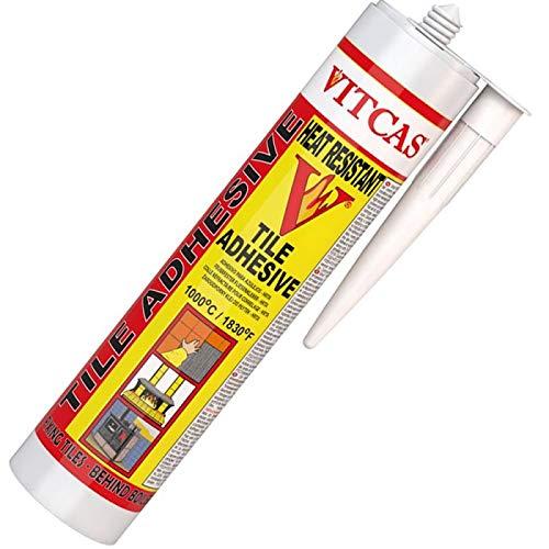 VITCAS Hitzebeständiger Fliesenkleber, 300 ml, für hohe Temperaturen, fertig gemischt