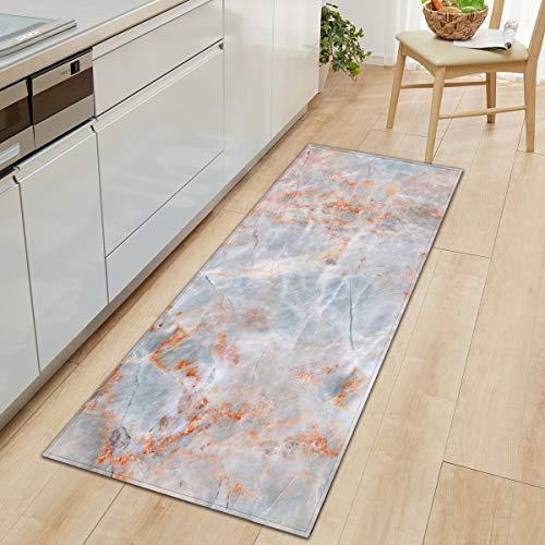 WIVION Marmor Türmatte Teppiche Innen/Außen Rutschfester Eingang Haustür Fußmatte Für Bad/Küche/Schlafzimmer/Wohnzimmer