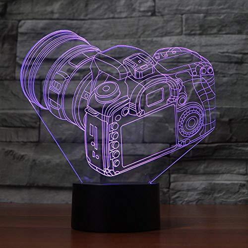 DFDLNL 7 Farben ändern kreative 3D trendy Kamera modellierung schreibtischlampe Baby Schlaf Beleuchtung led raumdekor atmosphäre nachtlicht Geschenke