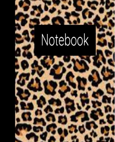 Cheetah Composition Notebook,100 college ruled paper