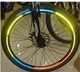 Lot de 48 reflektorsticker réflecteur autocollant pour vélo sacoche pour vélo motif bandes réfléchissantes pour poussette 6 couleurs différentes