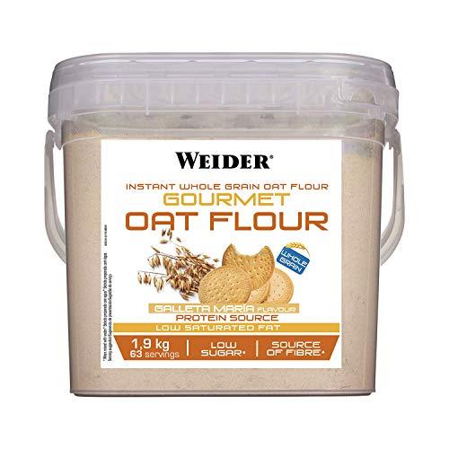 Weider Oat Gourmet. Harina de Avena Integral. Fuente de proteína con bajo contenido en azúcares. Sabor Galleta María (1,9 kg) ✅