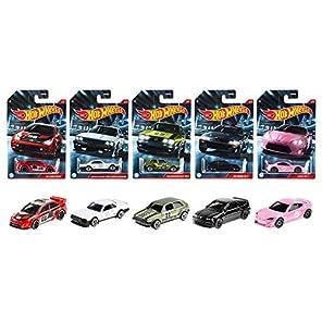 """ホットウィール(Hot Wheels) テーマ オートモーティブ 2020 """"Cult Racers """" アソート【ミニカー 10台入り BOX販売】'08 フォード フォーカス (2台) ニッサン スカイラインDR30 (2台) フォルクスワーゲン ゴルフ MK2(2台) ホンダ CRX(2台) サイオン FR-S(2台) 986P-GDG44"""