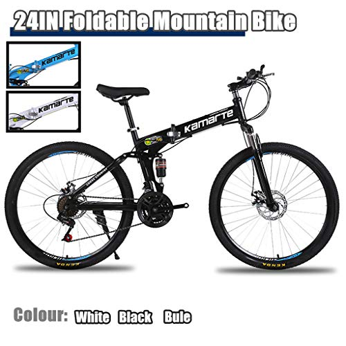 FANSIREN (US Shipping) Foldable Mountain Bike 24 Inch Bike for Adults with Variable Speed 21 Speed, Bicycles 24 Inch Light Mini Folding Bike Small Portable Bike Adult Student