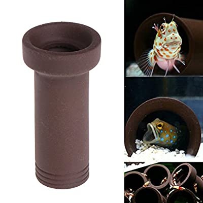 Haven shop Fish Tank Ceramic Cave Shelter Decor, Aquarium Tank Tube Breeding Hiding Cave Shelter For Fish Shrimp Spawn Live Plant from Haven shop