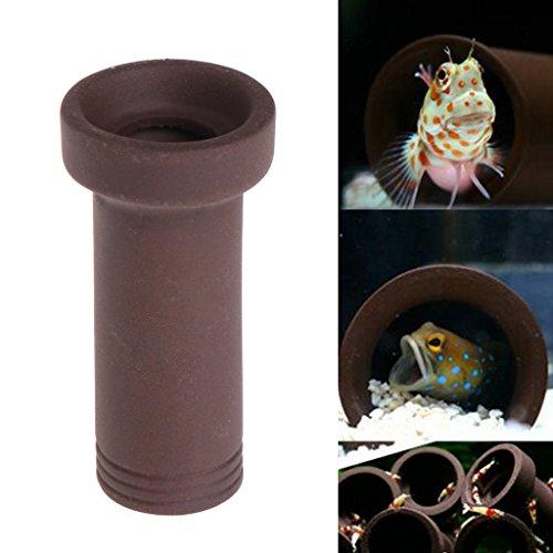 Haven winkel Fish Tank Keramische grot beschutting Decor, Aquarium Tank Tube fokken verbergen grot schuilplaats voor vis garnalen spawn levende plant