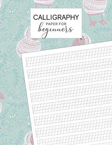 Calligraphy Paper for Beginners: Each Sheet Features a Printed Practice Rule and Slanted Grid