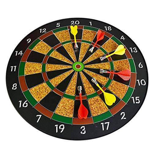 XHLLX Lado De Fijación De Dartboard Magnético, Juego De Mesa De Dard De 16 Pulgadas con 6 Dardos Seguros Lanzar Juegos Juguetes para Niños Adultos Dart Board Juego Juego De Fiesta