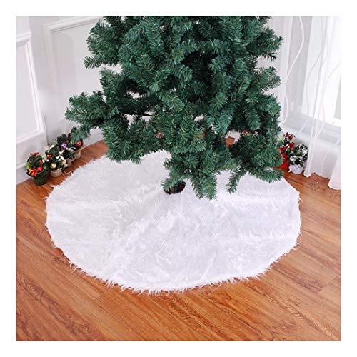 SDSQSCL Semplice Colore Solido Artificiale Tessuto Felpato Albero di Natale Gonna Decorazioni Natalizie Decorazioni di Natale Home Casa Decor