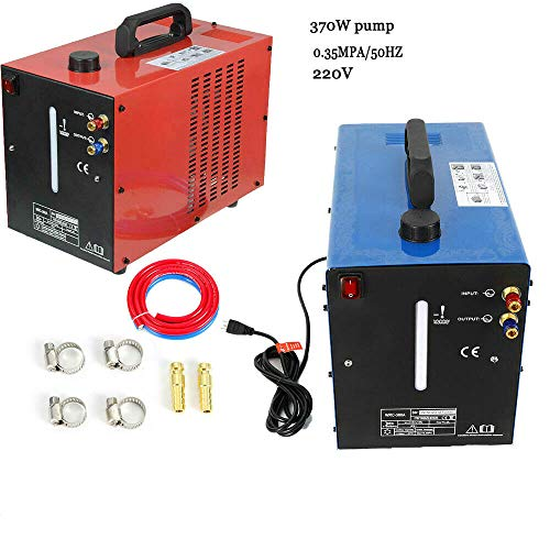 Inverter Schweißgerät HaroldDol 220V Wasserkühler Schweissgerät 10L Wasser Kühlung AC/DC Tig WIG Inverter Welder (Rot)