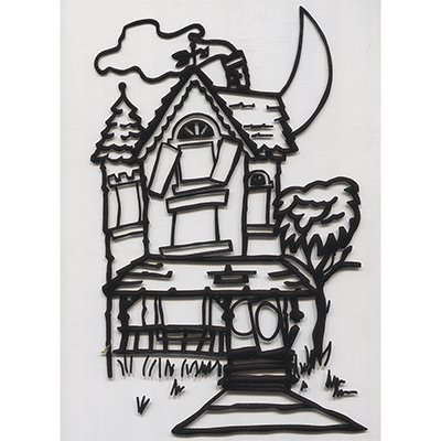 Instant Art insert (Haunted House)by Ickle Pickle Magic - Trick