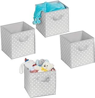 mDesign boîtes de rangement (lot de 4) – casiers de stockage avec motifs pointillés pour l'armoire ou la chambre – petites...