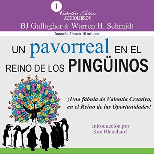 Diseño de la portada del título Un Pavorreal en El Reino De Los Pinguinos