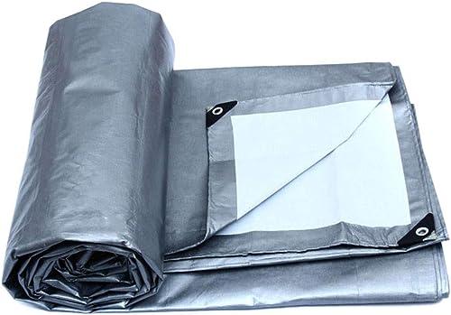 SXY888 Tente résistante d'auvent de bache de Prougeection de PE de bache, Bateau, Couverture de RV ou de Piscine, Blanc argenté