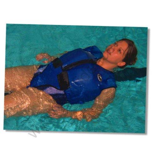 Konfidence Jacket Schwimmweste Erwachsene blau/gelb Adults Größen S-XXL 34-50 Auftriebshilfe (Blau/Gelb, 34-38 S-M)