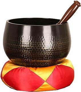 Yoga Tibetan Singing Bowl Pad Hand Hammer Playing Chakra Meditation Religious Belief Buddhist Supplies (Size : 15.5cm)