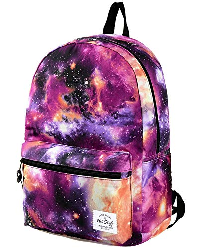 TRENDYMAX Cartable Galaxy Sac a Dos Ecole, 20 Liters, Violet
