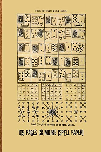 """The Mystic Test Book, or the Magic of the Cards: 109 Pages Grimoire [Spell Paper] 6"""" x 9"""" (15.24 x 22.86 cm)"""