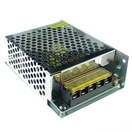 QUANS - Tira de iluminación LED de 110 V a 12 V CC con Interruptor de alimentación regulado Universal