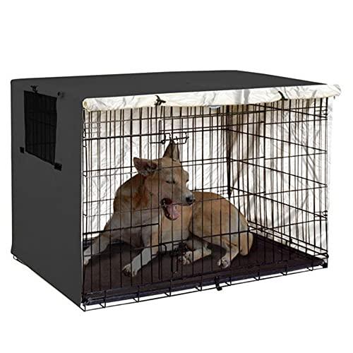 JTYX Copertura per Gabbia per Cani Universale per Gabbia per Cani Leggera in Poliestere 210D Oxford Coperture per canile per Animali Domestici durevoli per Interni/Esterni