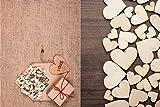 ZesNice Streudeko Hochzeit, 500 Stück Holz Herzen Scheiben Naturholzscheiben unlackiert Holzherzen für Tischdeko DIY Handwerk Verzierungen(Gemischt 4 Größen: 1cm 2cm 3cm 4cm) - 5